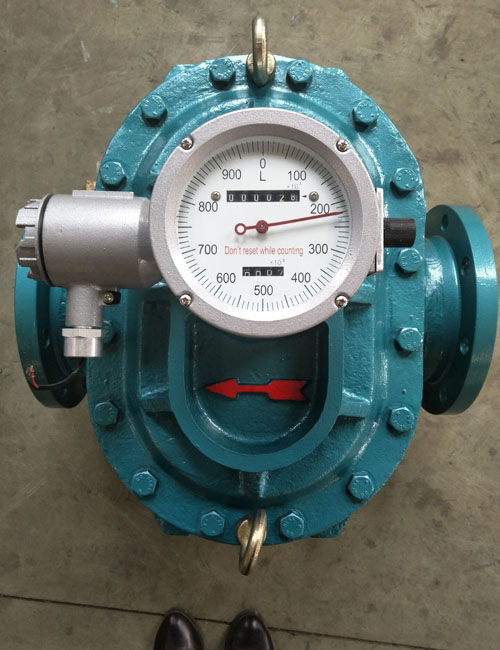 positive—displacement flow meter